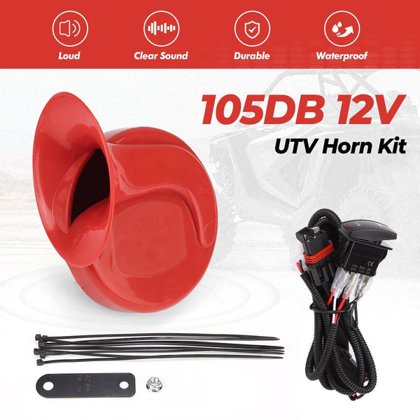 Universal UTV Horn Kit For Polaris RZR, Ranger, General - Kemimoto