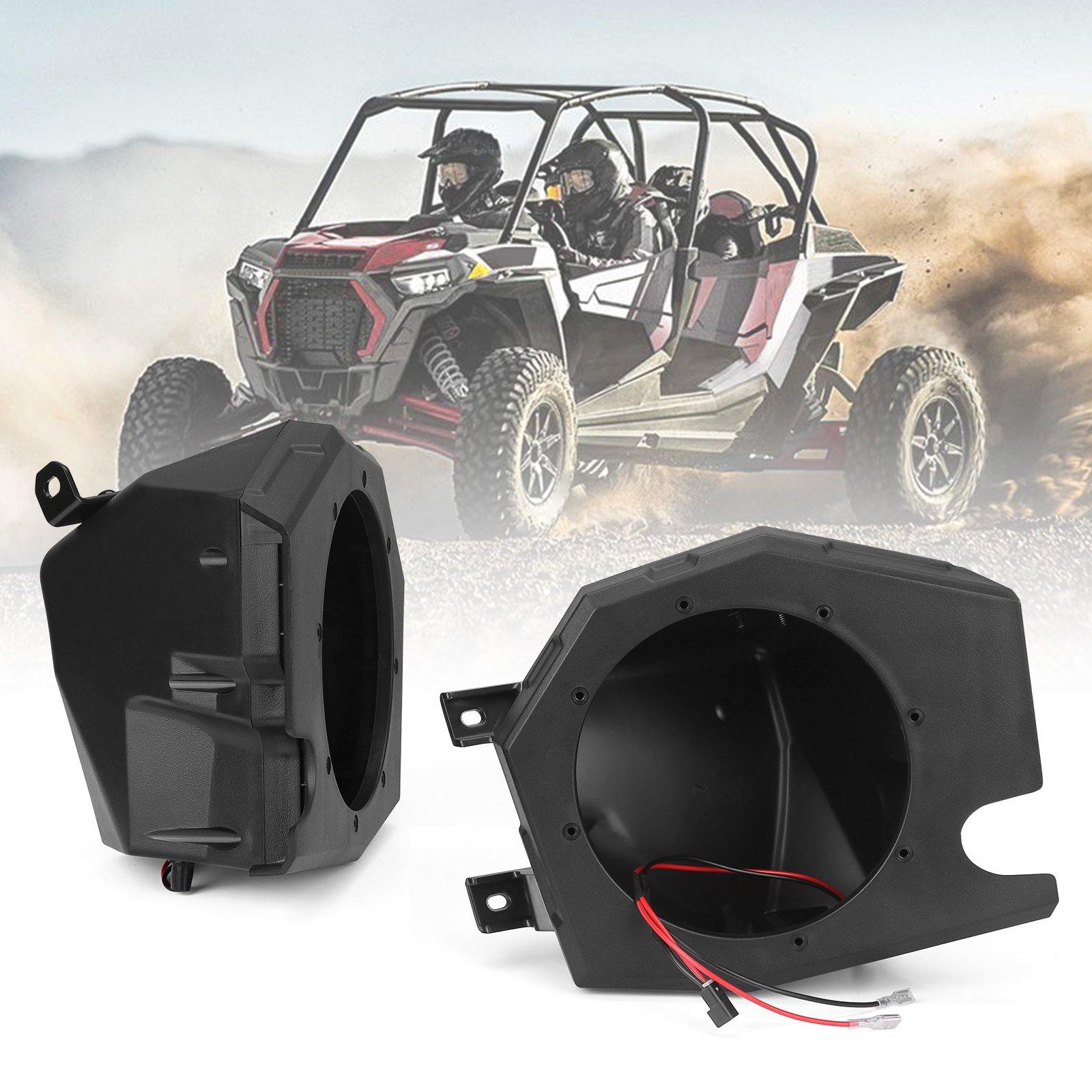 Front Kick Pods Panel, RZR XP 1000 Speaker Pods Enclosures 6.5 inch Compatible with RZR 900 / XP 1000 / XP Turbo 2014-2019 - KEMIMOTO