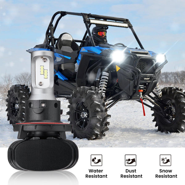 (New In!) Ranger LED Headlight Light Bulb Compatible with 2011-2019 Polaris RZR Ranger - Kemimoto