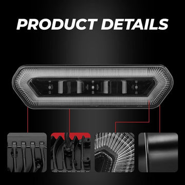 "1,75-2 ""UTV Red Chase Rücklicht 90133 Can Am Maverick X3 Polaris RZR PRO XP 2020"
