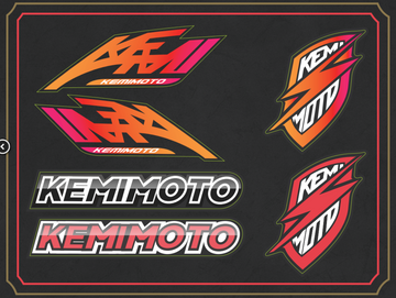 KEMIMOTO Stickers (Not sold separately)