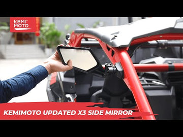2017-2020 Can Am Maverick X3 Max Side Mirror With More Adjsutable Point