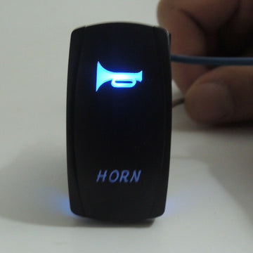 Blue Led Horn Rocker Switch