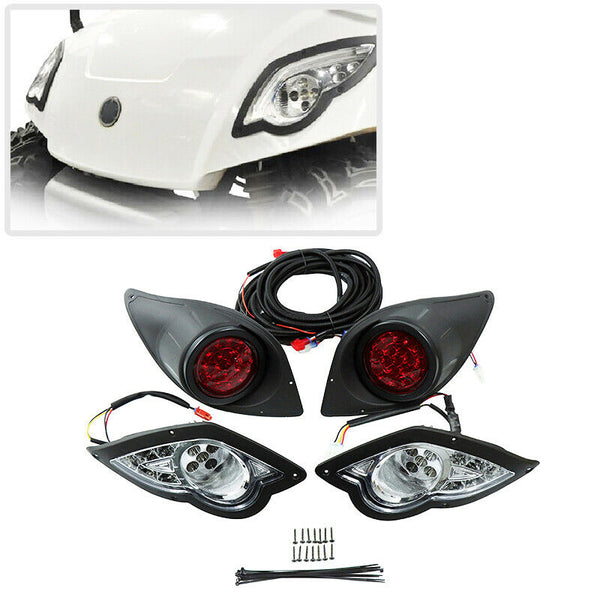 Golf Cart Yamaha Drive Bright LED Headlight + Tail Lights Kits 2007-2020 - Kemimoto