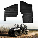 Polaris Ranger XP 1000 Front Floor Mat liner 2018 2019(Crew Fits Front Only) Black,OEM# 2882780 (2 pack) - Kemimoto