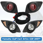 For Yamaha G29 Drive Golf Cart LED Headlight & Tail Light Kit Set 2007-Up - Kemimoto