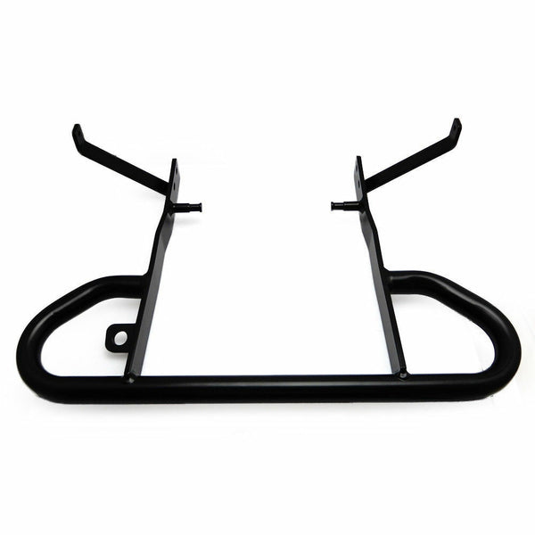 Quad Yamaha Raptor 700 Matte Black Rear Wide Grab Bar Bracket Stand Mounted - Kemimoto