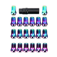20pcs M12*1.5 Wheel Screw Lug Nuts+Lock Key for Polaris RZR Sportsman Ranger UTV - Kemimoto