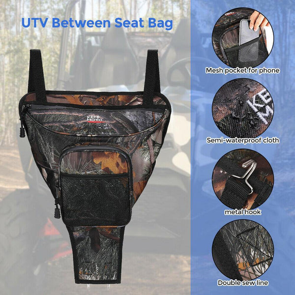 UTV Camo Cab Pack Holder Storage Bag For Polaris RZR 570 4 800 S 900 1000 XP - KEMIMOTO