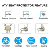 ATV Seat Cover Pad Protector Breathable for All Terrain Vehicle 4 Wheeler Quad - Kemimoto