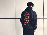 Embroidered Snake Bomber - Aqua - ELEVATED NEW YORK NY ELEVATEDNY