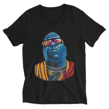 Biggie as Buddha Unisex Short Sleeve V-Neck T-Shirt