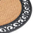 Plain Semicircle Natural Coir Doormat with Black Rubber Border - OnlyMat