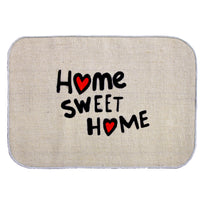 'Home Sweet Home' Printed Micro Boucle Jute Mat - OnlyMat
