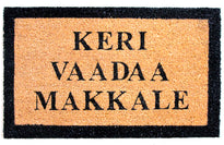 Funny 'KERI VAADA MAKKALE' Printed in English Natural Coir Floor Mat - OnlyMat