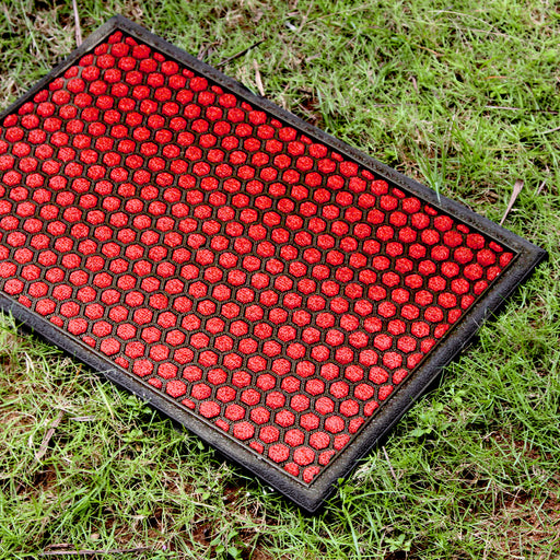 Rubber Red Pin Polka Dot Doormat