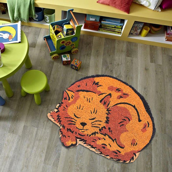 Cute Cat Shape Anti-skid Floor Mat - OnlyMat