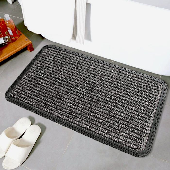 Anti Slip and Anti Fade Black Bath Mat