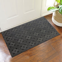 Lightweight Black Rubber Pin Floor Mat with Designer Pattern