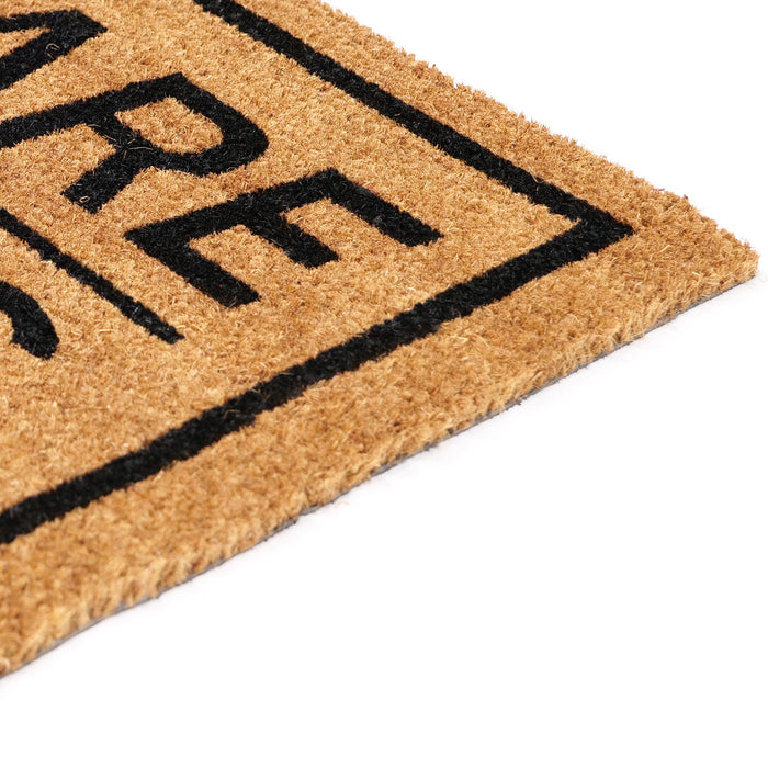 """Beware of Kids"" Printed Natural Coir Funny Door Mat"