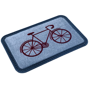 Elegant Cycle Design Soft All-Purpose Mat Home Kitchen Bathroom Door Entrance 40x60x8mm (Grey) - OnlyMat