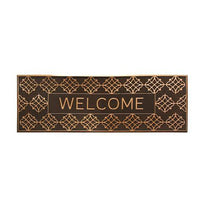 Elegant Long Metalic Finish Designer Rubber Pin Welcome Mat - OnlyMat