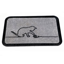 Onlymat Soft Doormat Cat Design (40x60cmx8mm) (Grey) - OnlyMat