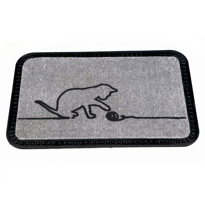 Onlymat Soft Doormat Cat Design (40x60cmx8mm) (Grey)