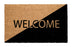 "Elegant Black & Brown ""Welcome"" Printed Natural Coir Door Mat - OnlyMat"