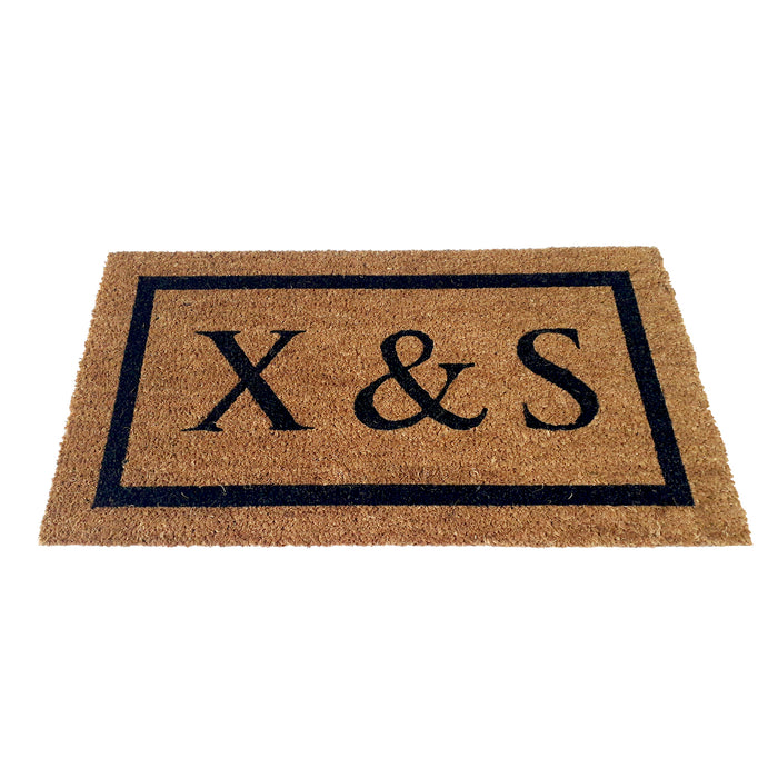 Personalized Doormat with Large Initials - Design 3