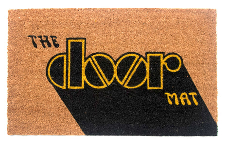 Natural Coir Mat with Printed Quote 'THE Door MAT' - OnlyMat
