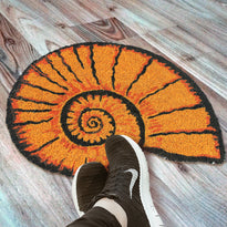 Stylish Sea Shell Shaped Anti-Slip Natural Coir Floor Mat - OnlyMat