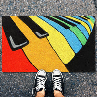Colourful Piano Coir Door Mat - OnlyMat