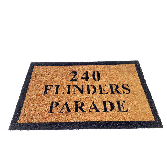 Personalized Custom Entrance Door Mat with Address  - Design 5