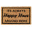 "Funny ""It's Always Happy Hour Around Here"" Printed Natural Coir Floor Mat"