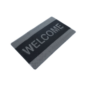 Onlymat Rubber Welcome Anti-Slip Doormat Washable Home Office Entrance 45x75cmx8mm - OnlyMat