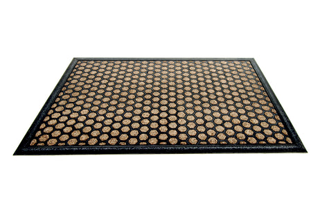 Beige Polka Dot All Purpose Mat for Home Bathroom Kitchen Entrance - OnlyMat