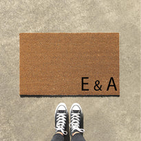 Personalized Doormat with Family Initials  - Design 4 - OnlyMat