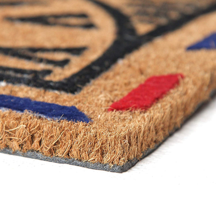 Elegant Natural Coir Anti-slip Flock Floor Mat