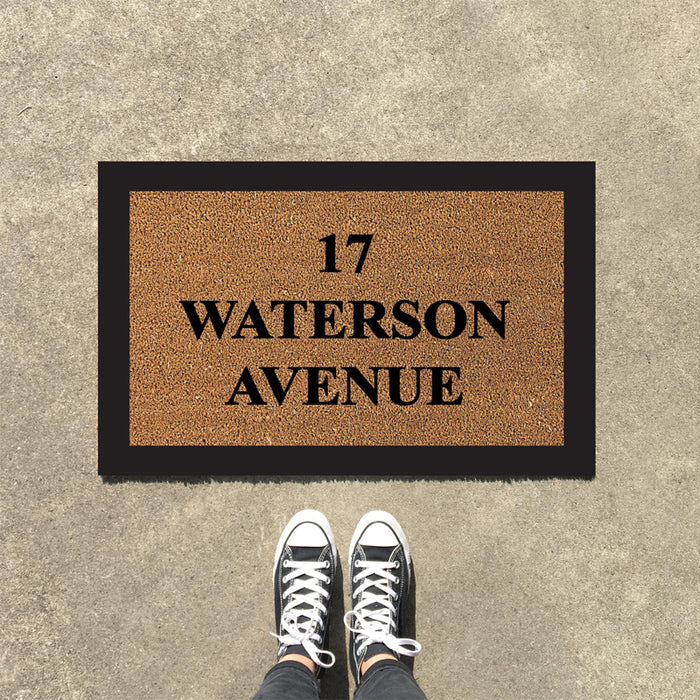 Personalized Custom Entrance Door Mat with Address  - Design 5 - OnlyMat
