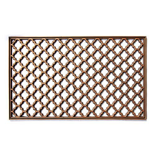 Elegant Washable Golden Colour Rubber Floor Mats
