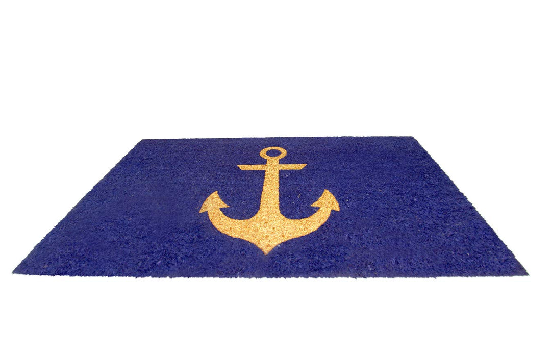 Onlymat Blue Rectangle Shape Doormat 45 * 75 cm