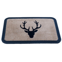 Elegant Reindeer Design Soft All-Purpose Mat Home Kitchen Bathroom Door Entrance 40x60x8mm (Beige) (Beige) - OnlyMat