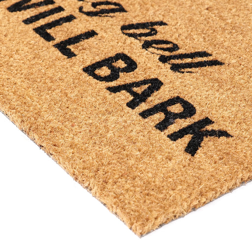 "Funny ""Don't Ring Bell Kids Will Bark"" Printed Natural Coir Floor Mat - OnlyMat"