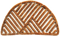 Oval Shape Wire Brush Coir Entrance Doormat