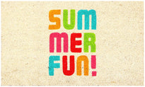 Summer Fun Printed Natural Coir Doormat - OnlyMat
