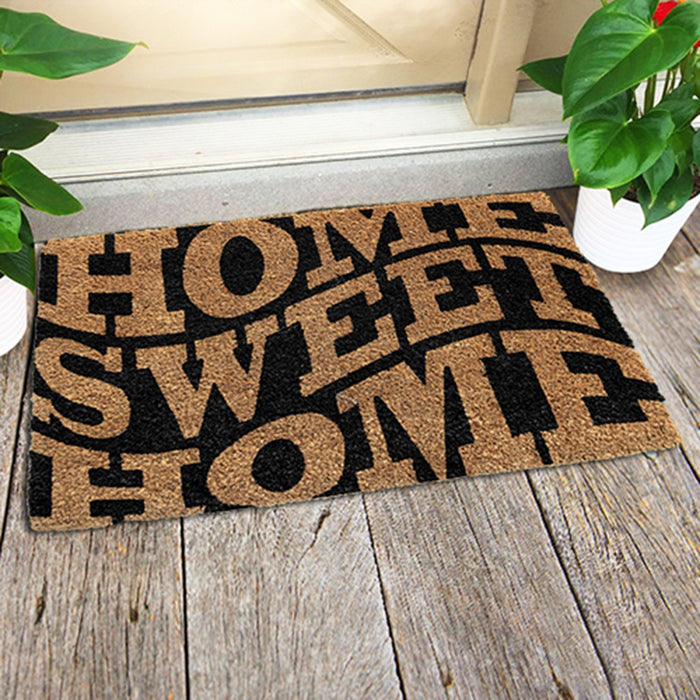 Home Sweet Home Design Coir Doormat