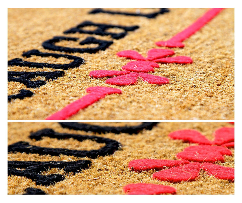 """LIVE LAUGH LOVE"" Printed Natural Coir Floor Mat"
