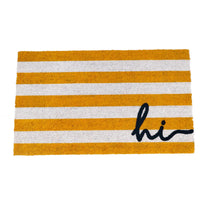 """Hii"" Printed Colourful Natural Coir Entrance Mat - OnlyMat"