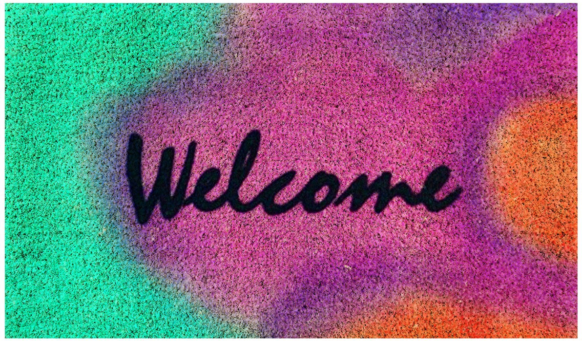 Colourful Multicolor Welcome Coir Door Mat